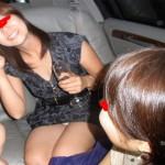 会社の飲み会帰りに、車の中で男性社員5人が若妻パートの体を触りだし、その結果・・・