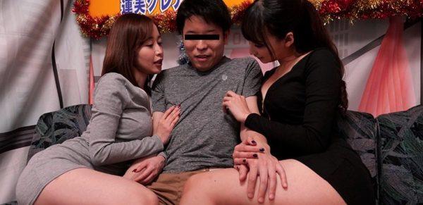 【無料動画レビュー】蓮実クレアと篠田ゆうからの凄テクに耐えろ!!我慢できれば生★中出しセックス!!
